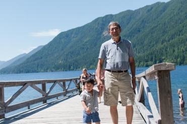 With Grandpa on Lake Pleasant